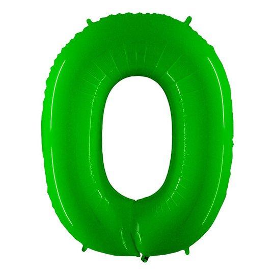 Sifferballong Neon Grön - Siffra 0