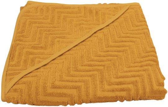 FILIBABBA Badehåndkle Zigzag, Golden Mustard