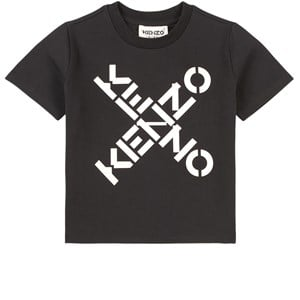 Kenzo Criss Cross Logo T-shirt Svart 2 år