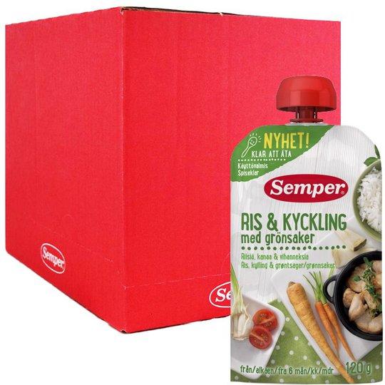 Laatikollinen lastenruokaa, Riisi, kana & vihannekset 12 x 120 g - 90% alennus
