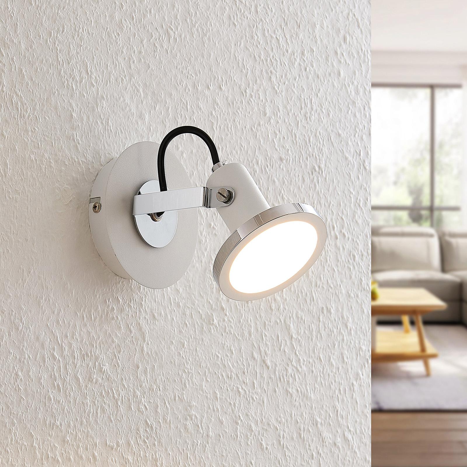 Lindby Theda -LED-kohdevalo, valkoinen, 1-lamp.