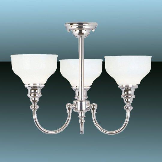 3 lampun Cheadle-kattovalaisin kylpyhuoneeseen