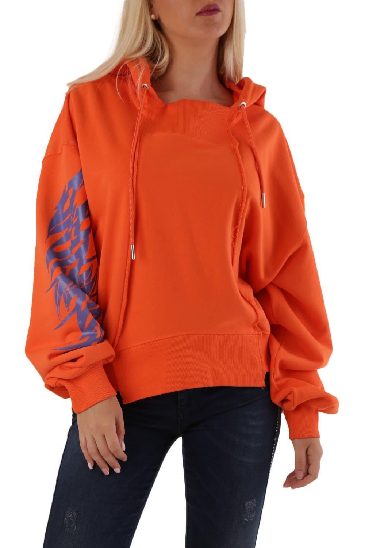 Diesel Women's Sweatshirt Various Colours 297889 - orange-2 S