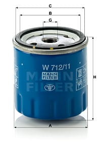 Öljynsuodatin MANN-FILTER W 712/11