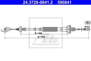 Vaijeri, kytkimen käyttö, PEUGEOT 206 CC, 206 Halvkombi, 206 SW, 206 Van, 2150 X4