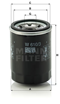 Öljynsuodatin MANN-FILTER W 610/3