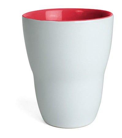 Kopp Venus, hvit/rød