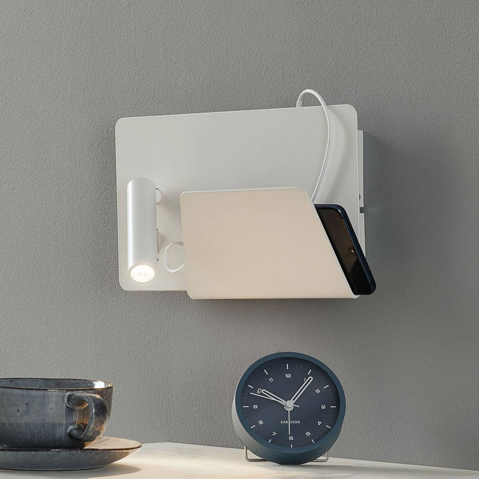 Moderne LED-vegglampe Suau med USB-ladetilkobling