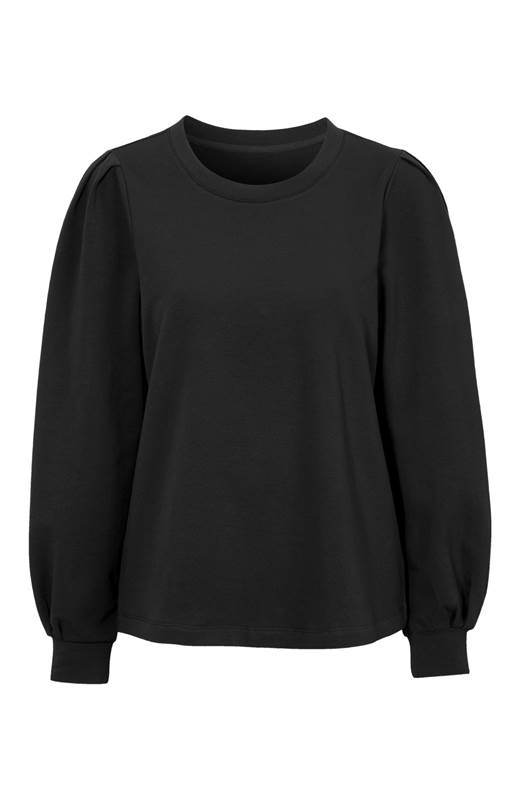 Cellbes Sweatshirt med puffärm Svart