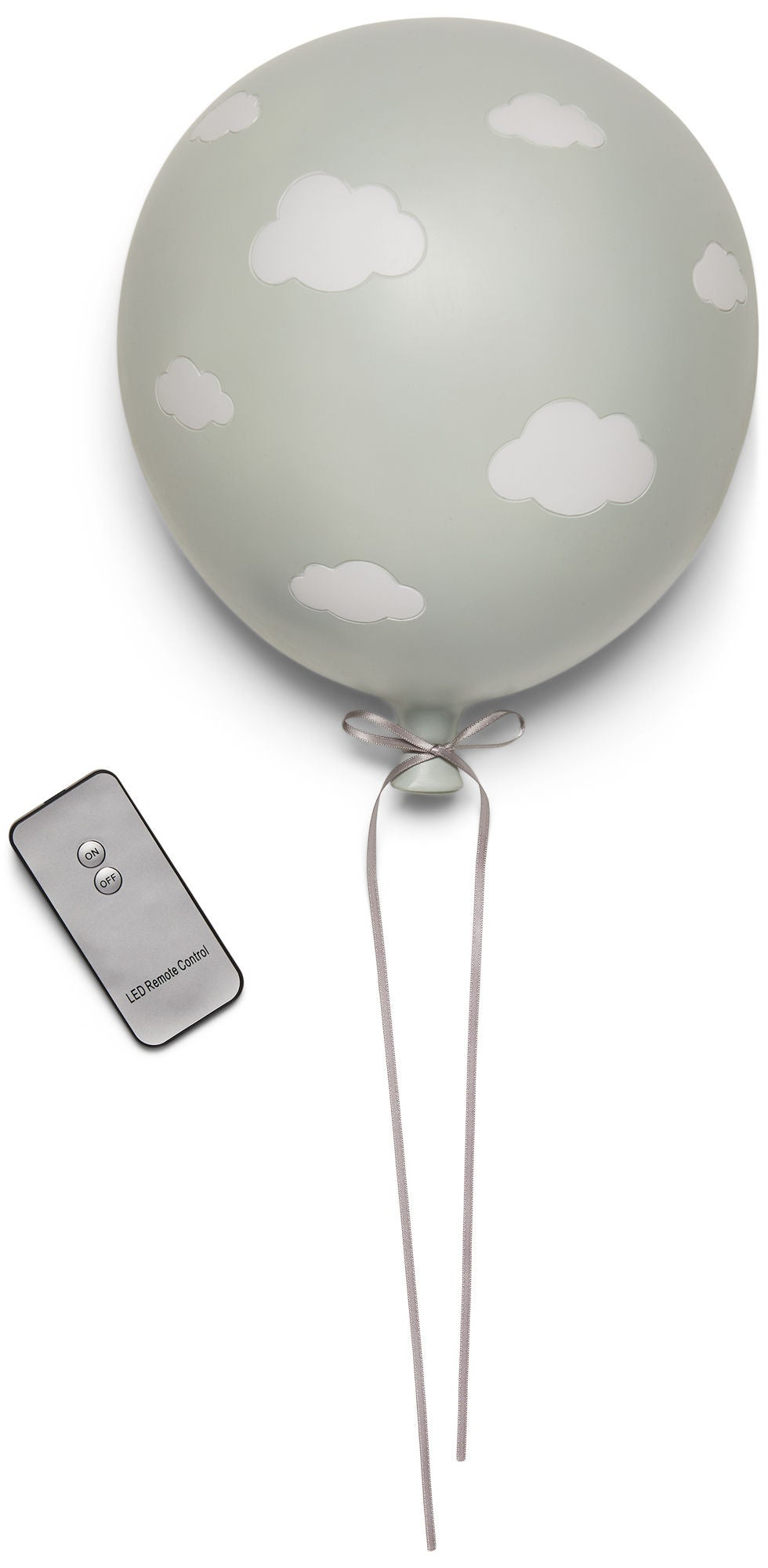 Lilou Lilou Seinävalaisin Ilmapallo Pilvi, Grey/White