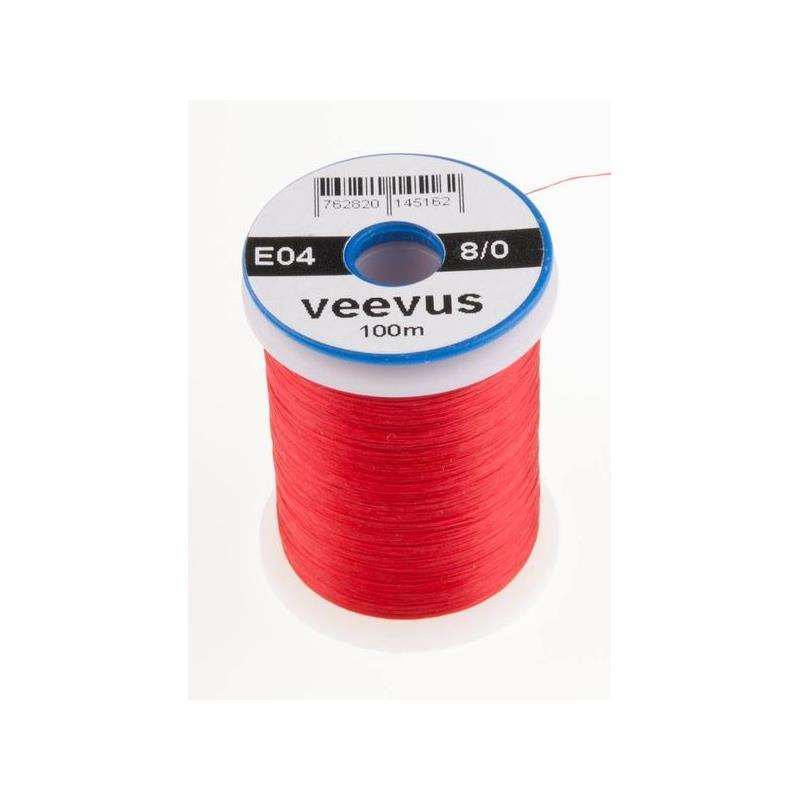 Veevus bindetråd 8/0 - Red Råsterk, lett å splitte