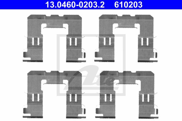 Tarvikesarja, jarrupala ATE 13.0460-0203.2