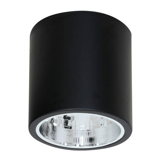 Takspot Downlight round i svart, Ø 17 cm