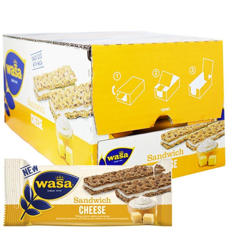 """Kokonainen laatikollinen """"Sandwich Cheese"""" 24x30g - 33% alennus"""