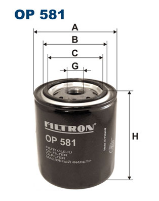 Öljynsuodatin FILTRON OP 581