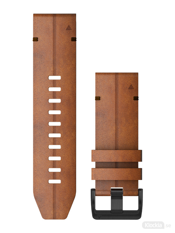 Garmin Armband 26mm QuickFit Kastanjefärgat läder 010-12864-05