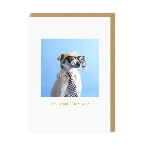 Dad Googly Eyed Dog Greeting Card