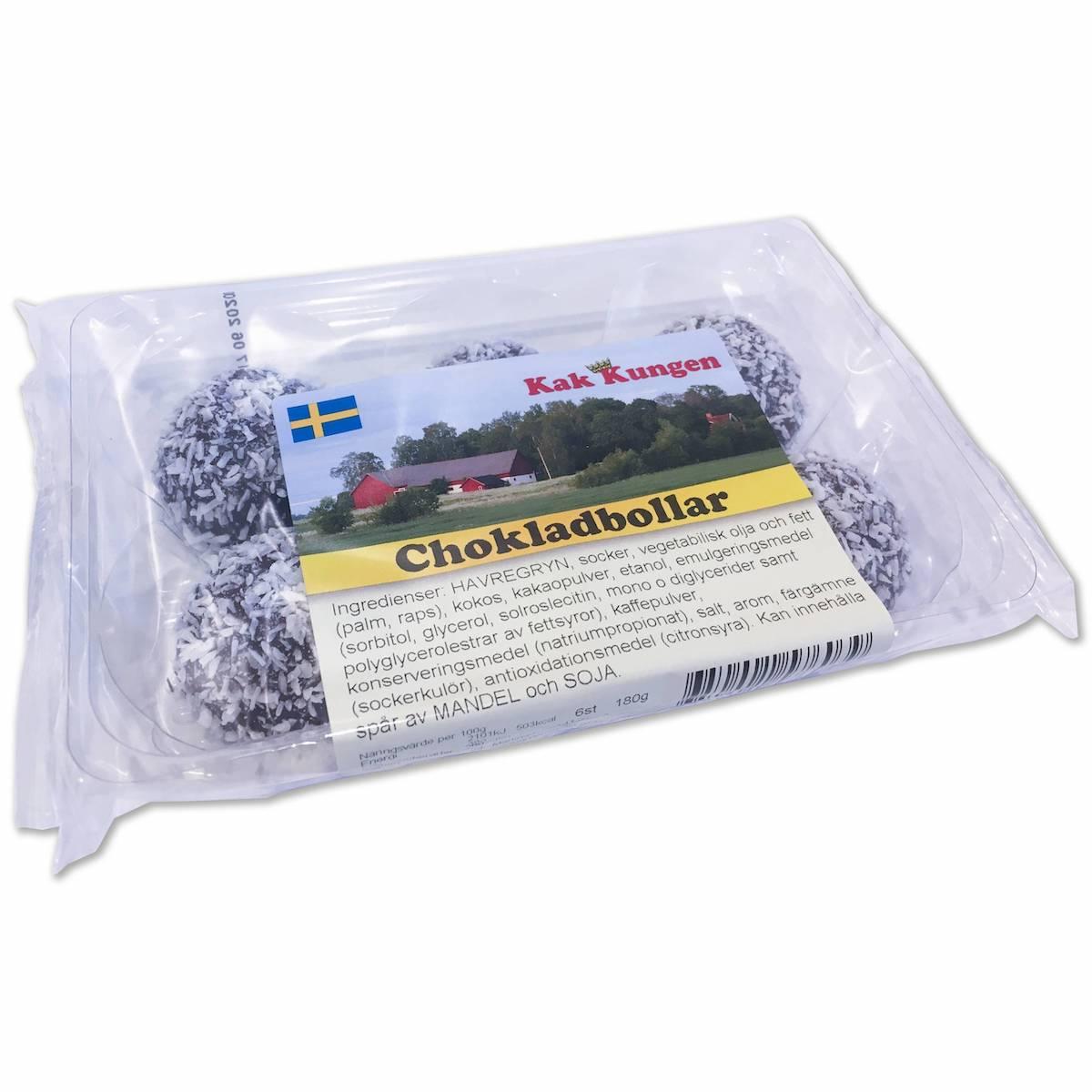 Kak-kungen Chokladboll 6-pack 180g