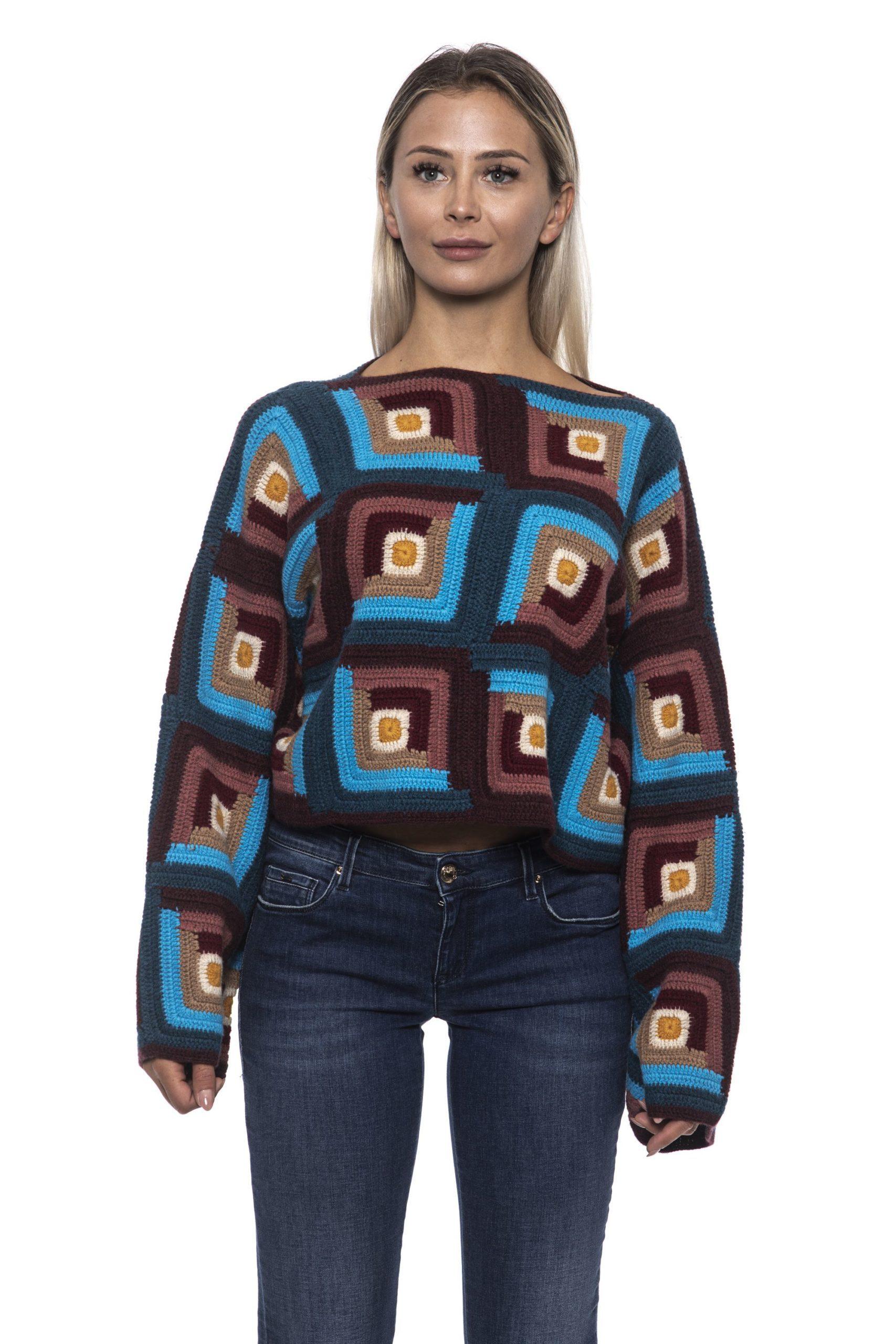 Alpha Studio Women's V A R. U N I C A Sweater Multicolor AL1192427 - IT42 | S