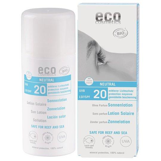 Eco Cosmetics Ekologisk Sollotion Neutral medel skydd SPF 20, 100 ml