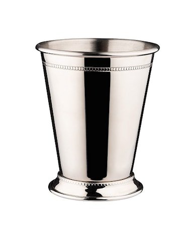 Julep-kopp rustfri med dekor høyde 10,8 cm