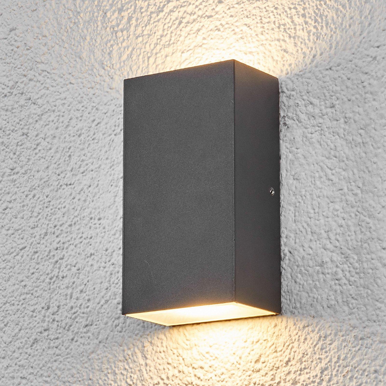 Kantet utendørs LED-vegglampe Weerd