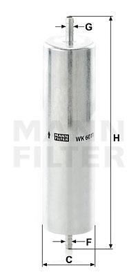 Polttoainesuodatin MANN-FILTER WK 6011