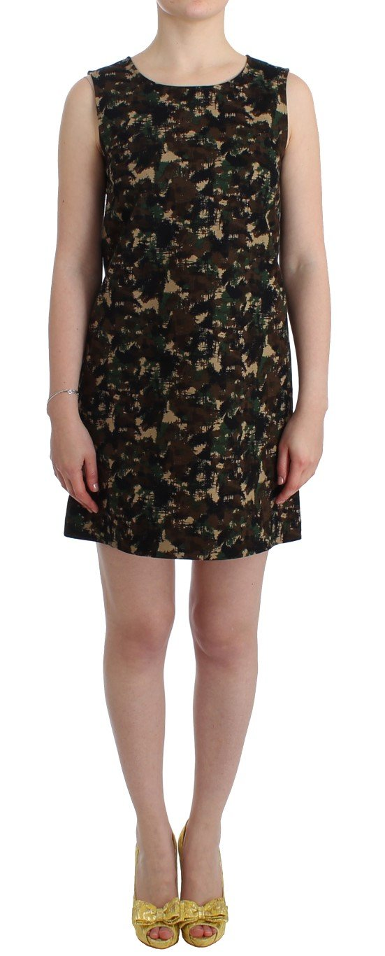 Dolce & Gabbana Women's camouflage Mini shift Dress Multicolor SIG11763 - IT42|M