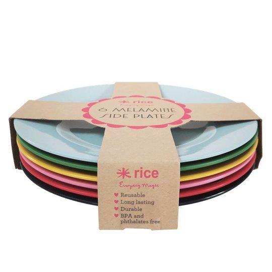 Rice Tallerken Melamin Favorite Colors 6-pack