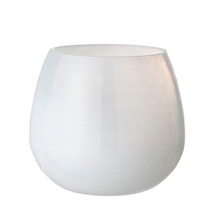 Lyslykt Hvit Resirkulert Glass