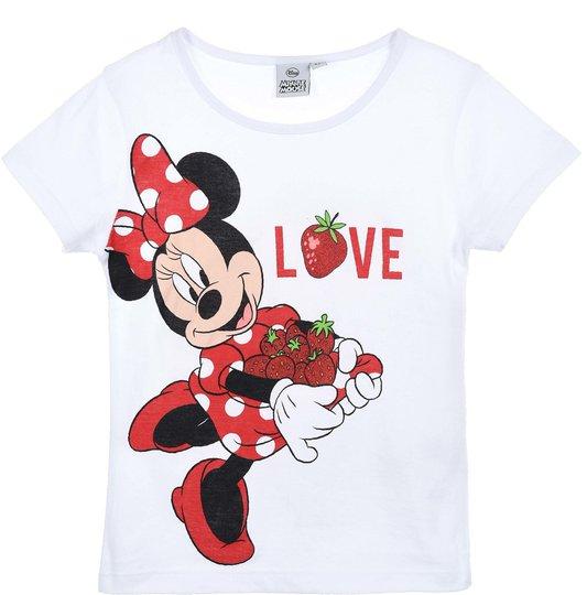 Disney Minni Mus T-Shirt, White, 3 År