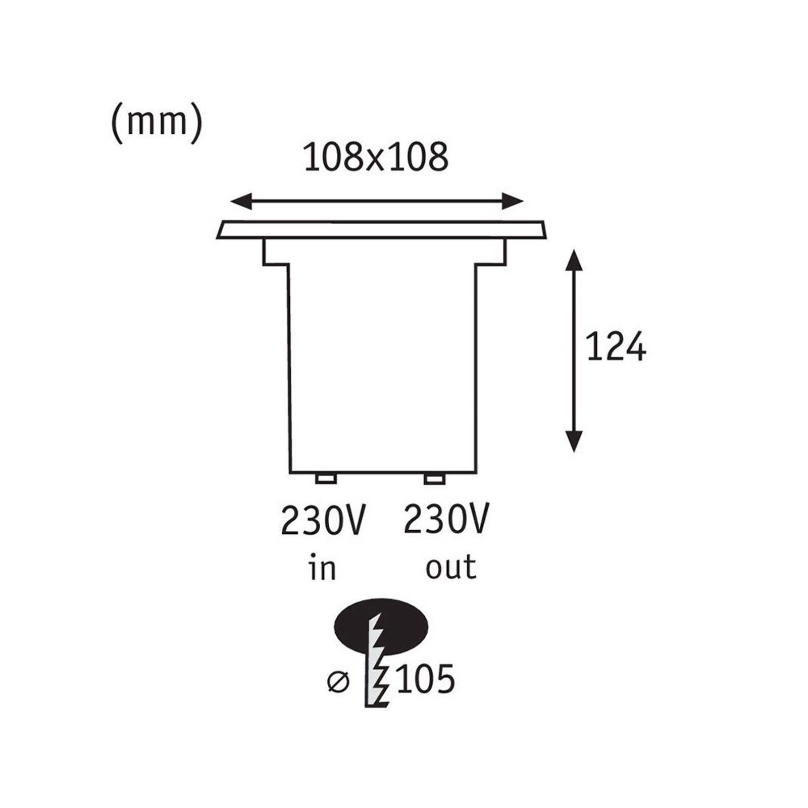 Paulmann 93993 -LED-uppovalo, kulmikas