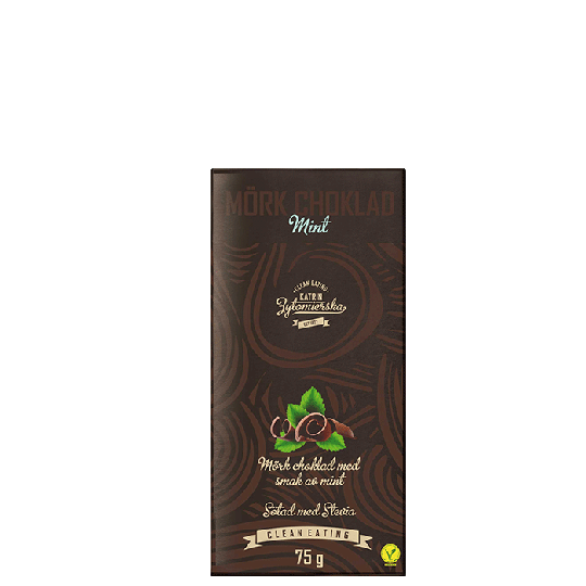 Mörkchoklad Mint, 75 g