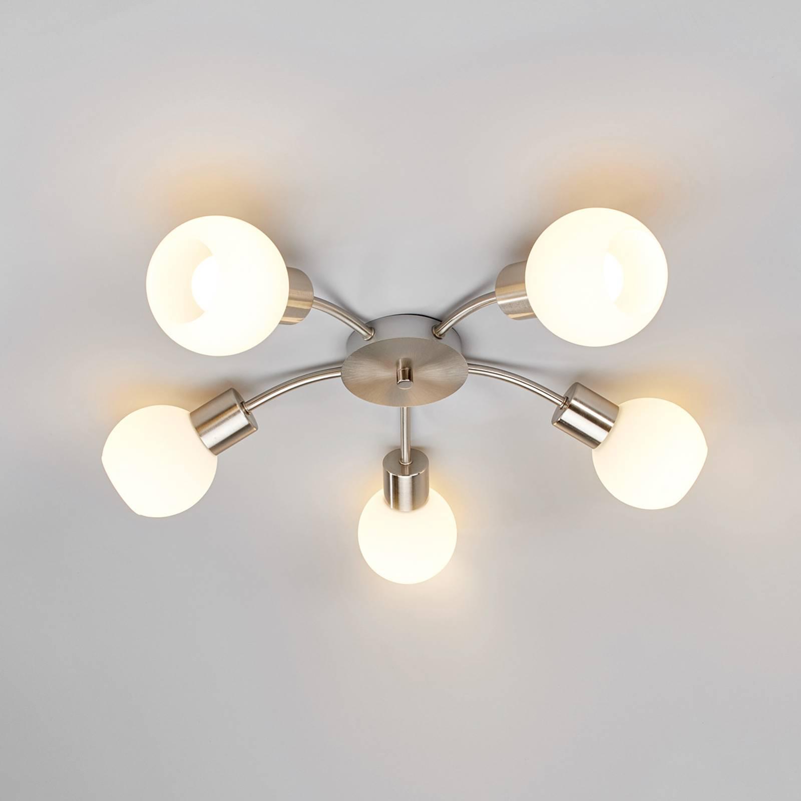 5-lamp. LED-kattovalaisin Elaina, matta nikkeli
