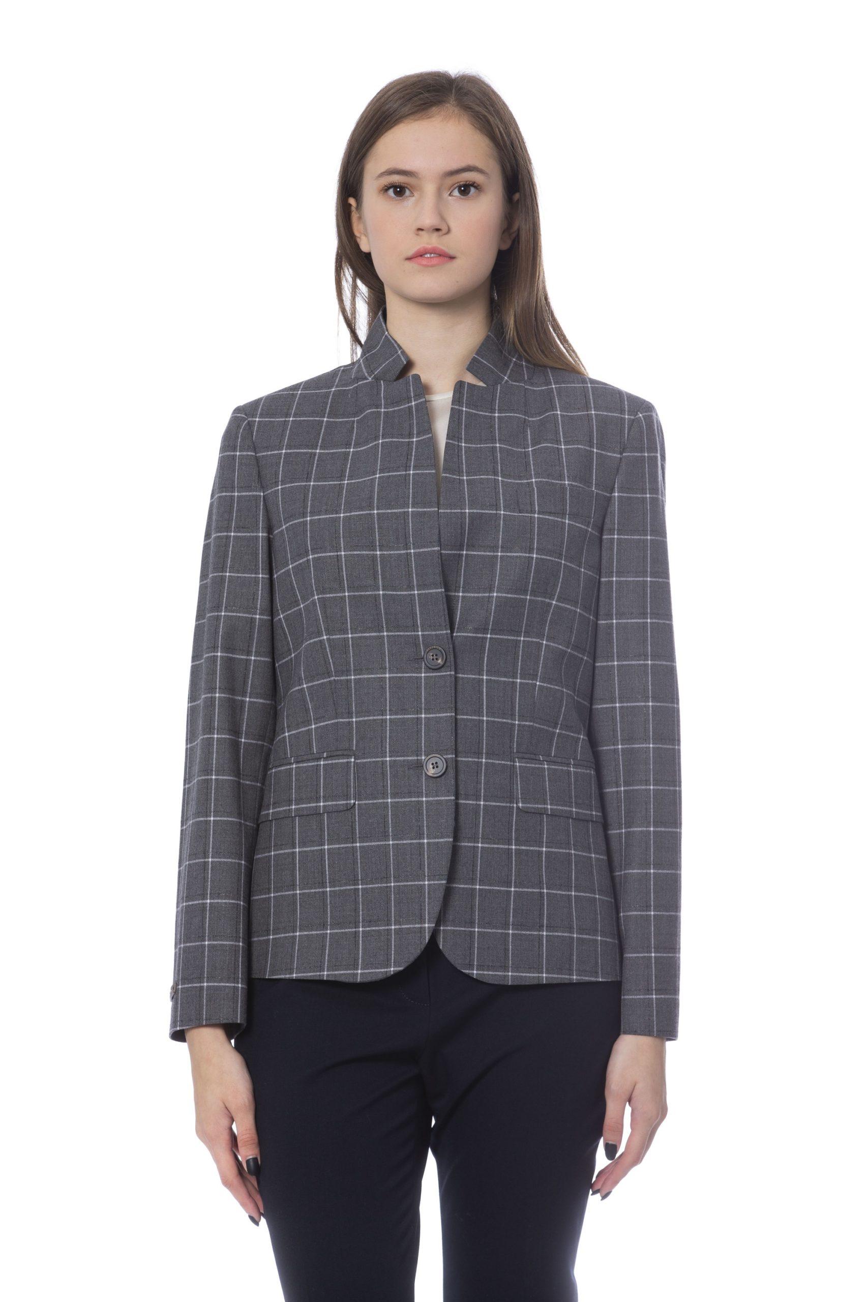 Peserico Women's Jacket Grey PE854256 - IT48 | XL