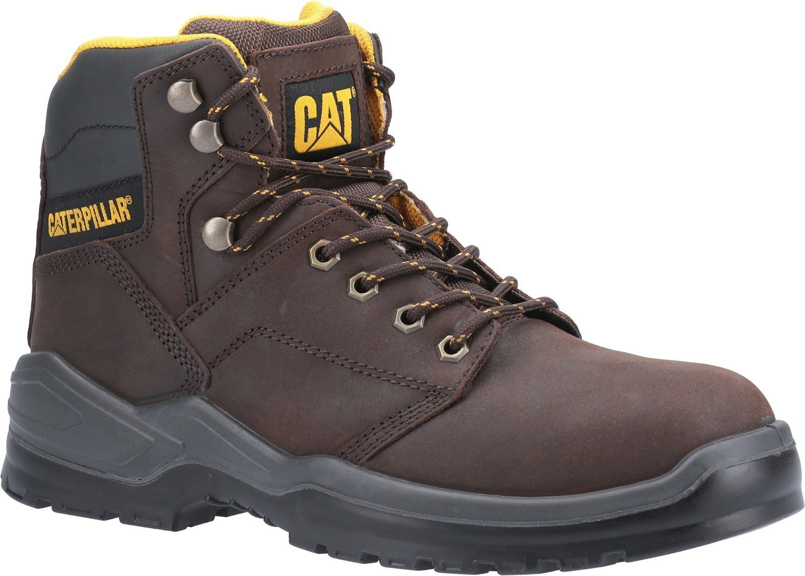 Caterpillar Men's Striver Lace Up Injected Safety Boot Various Colours 30702 - Brown 6