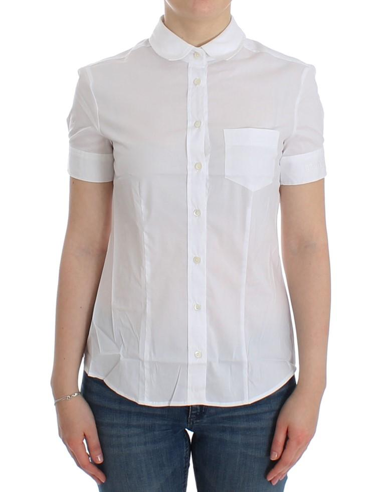 John Galliano Women's Cotton Shirt White SIG12559 - IT42 M