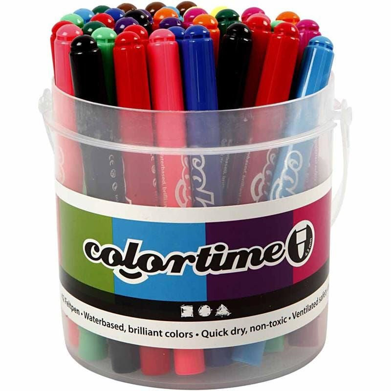Colortime Tuschpennor Mixade Färger 42st