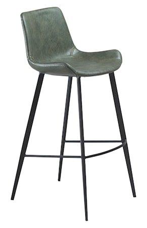 Barstol Hype Kunstlær - Vintage Grön