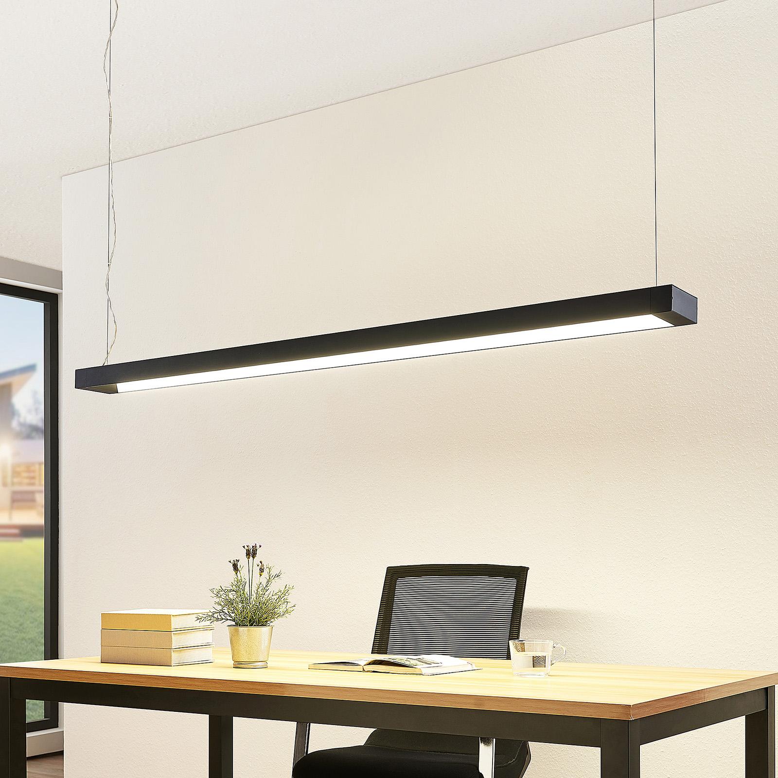 Arcchio Cuna -LED-riippuvalaisin, musta, 162 cm