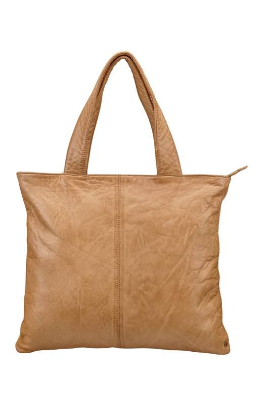 DEPECHE. Skinnväska + liten väska Kamel