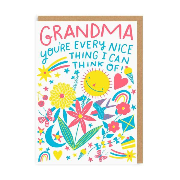 Grandma Nice Thing Greeting Card
