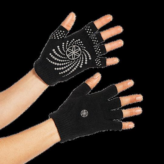 Black Grippy Yoga Gloves