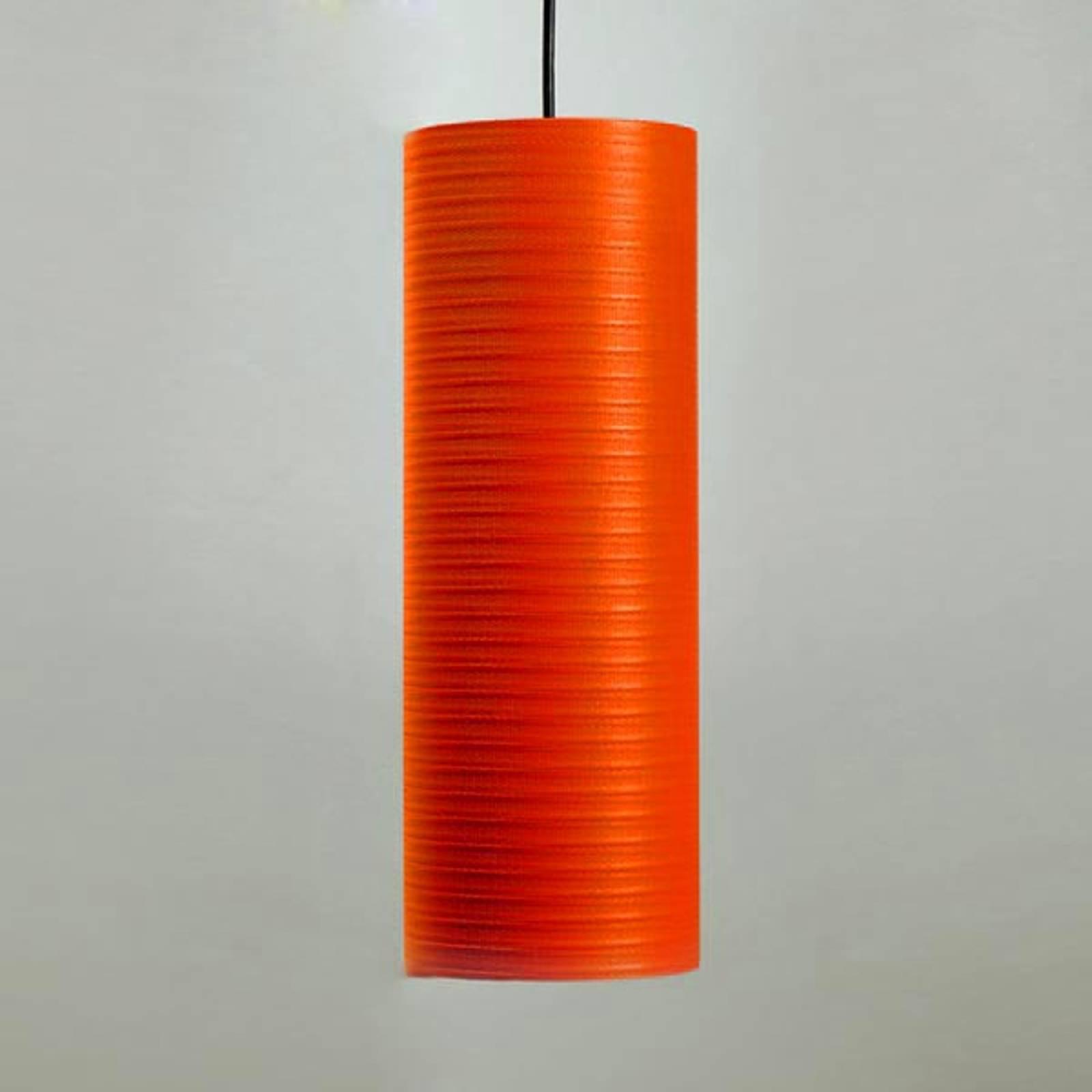 Tube pendellampe, 30 cm, rød