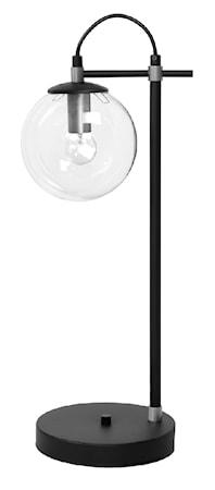 Perla 1 Bordslampa Glas/Silver/Svart