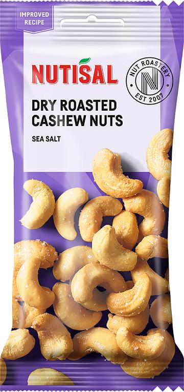 Nutisal Dry Roasted Cashew Sea Salt 60g