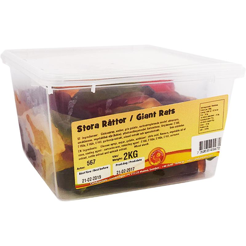 """Kokonainen laatikko: """"Suuret karkkirotat"""" 2kg - 61% alennus"""