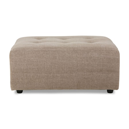Vint couch Soffmodul hocker Linneblandning Taupe
