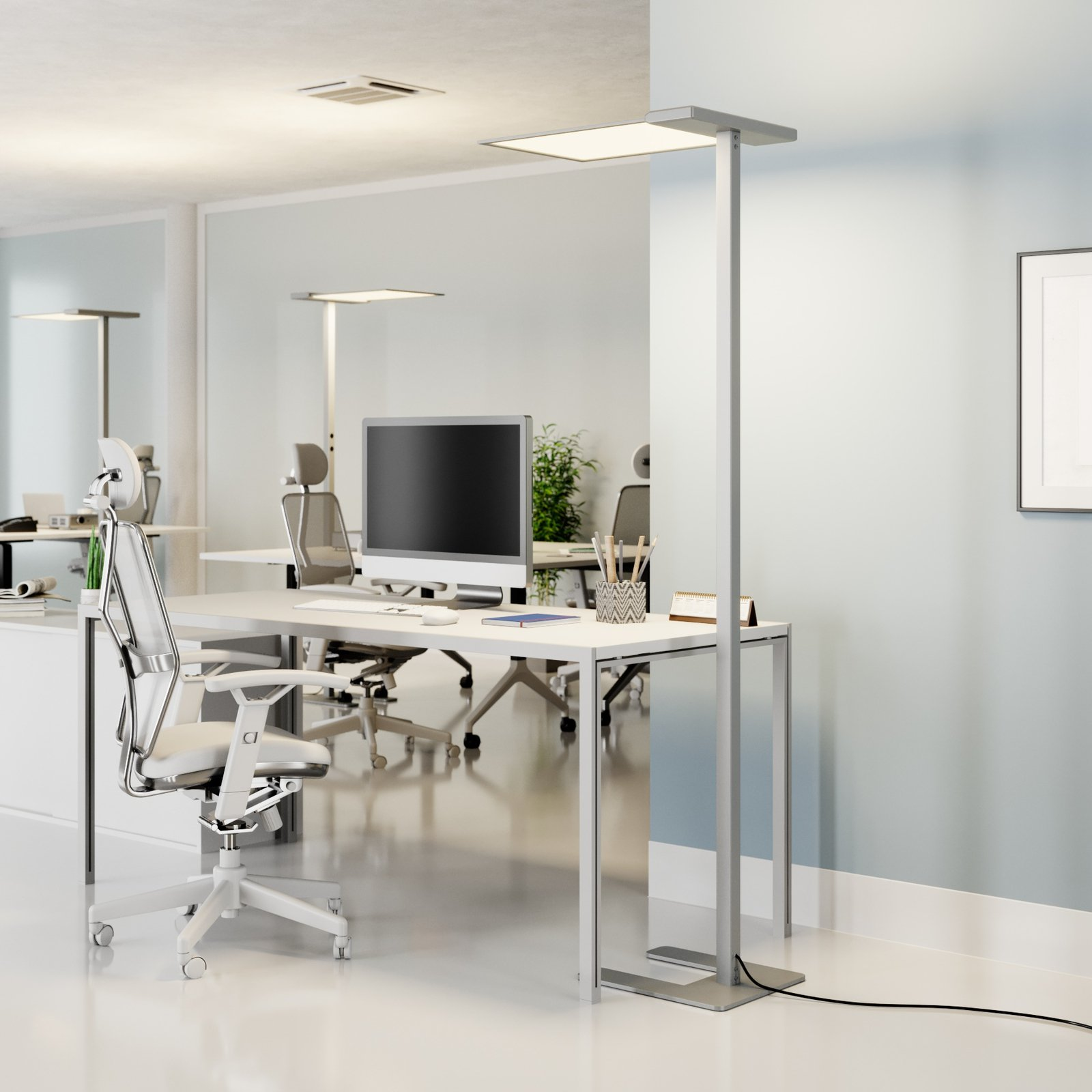 LED-office-gulvlampe Esmael 36W + 20W dimmer'