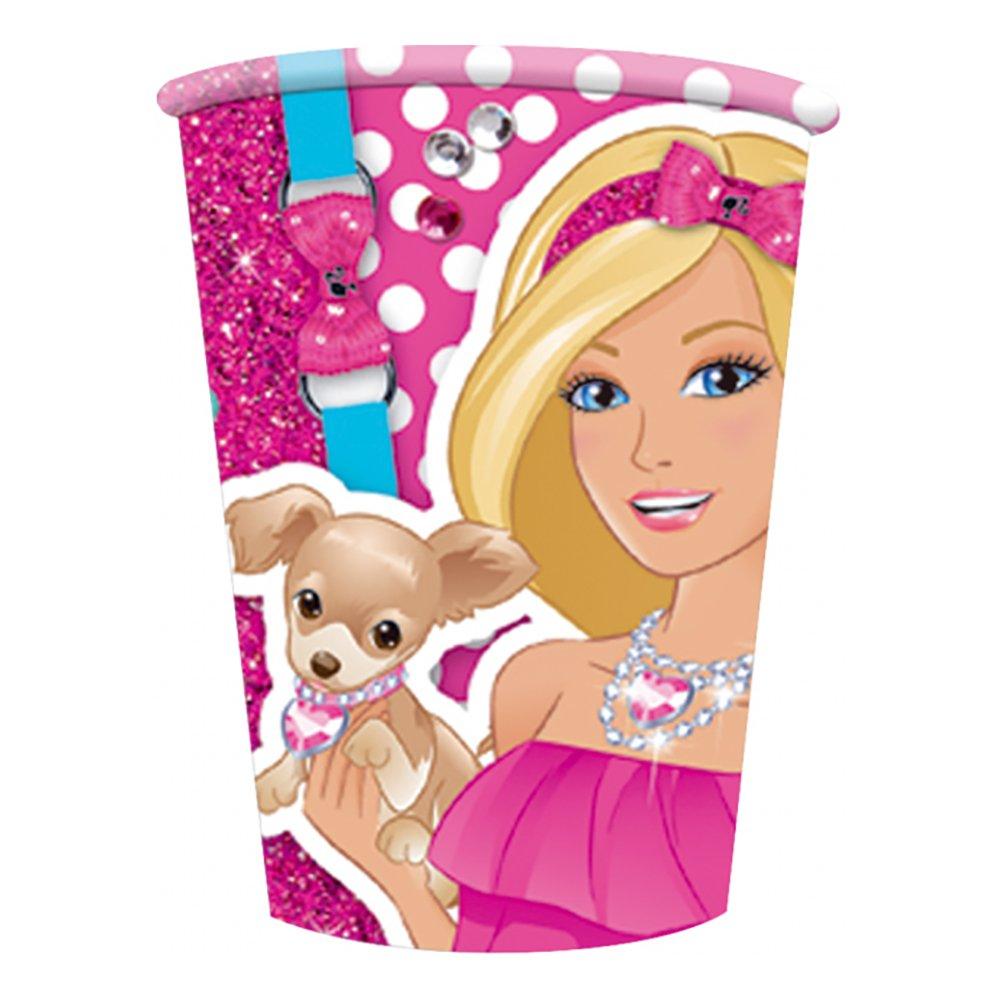 Plastmuggar Barbie - 8-pack